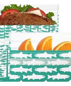 Lunchskins Calypso Forest set, boterhamzakje, duurzaam, wonderzolder.nl