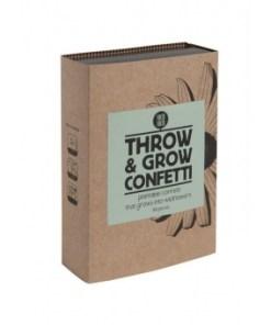 Trow and grow confetti, wildebloemen, groeipapier, duurzaam feest, wonderzolder.nl
