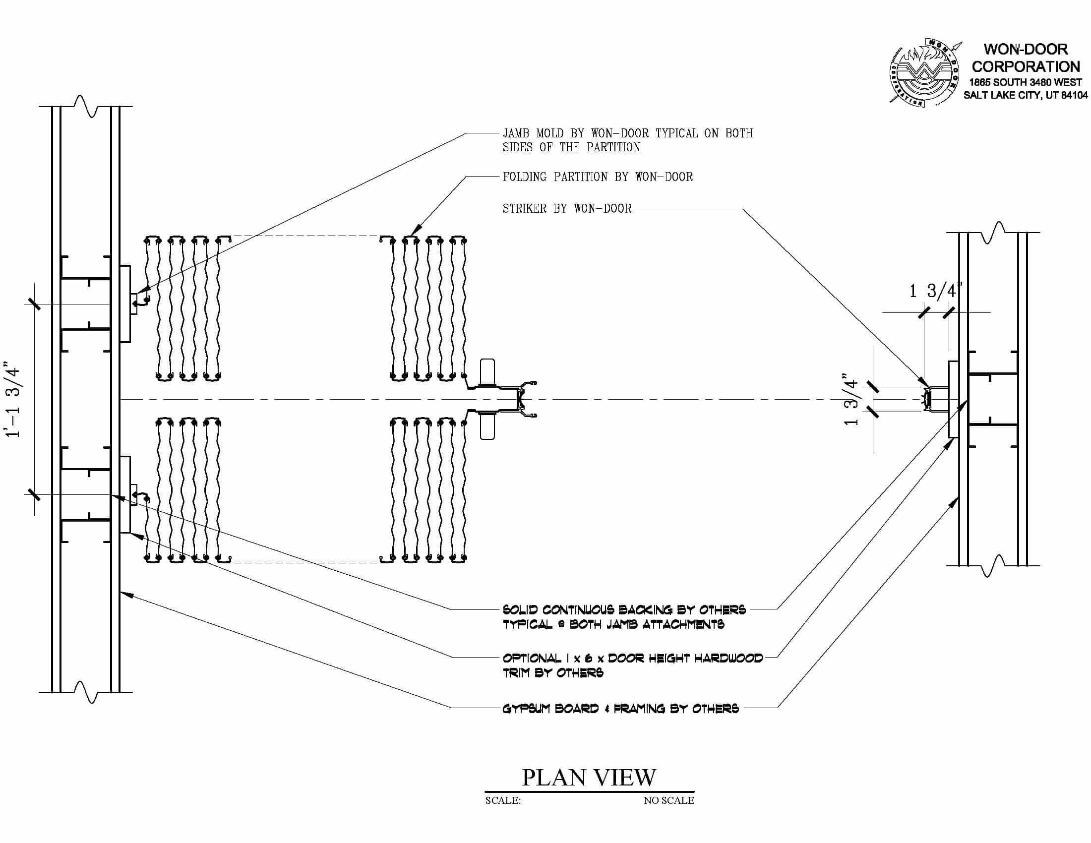 Door Plan View & Plan View Of The Vertico Garage Door