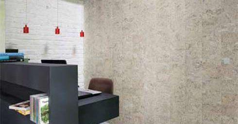 Kurk als wandbekleding  Behang  wandbekleding  Interieur