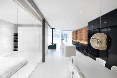 Moderne woning muur