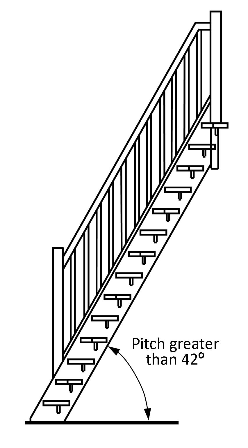 hight resolution of section of space saver staircase building regulations