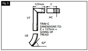 Continuous handrail system fitting instructions
