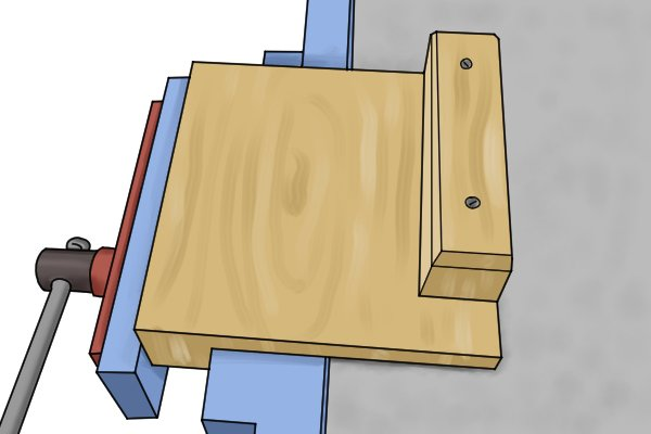 How To Secure A Bench Hook Using A Vice Wonkee Donkee Tools