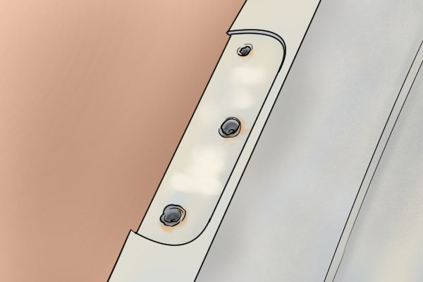 How To Repair Stripped Screw Holes For A Door Hinge