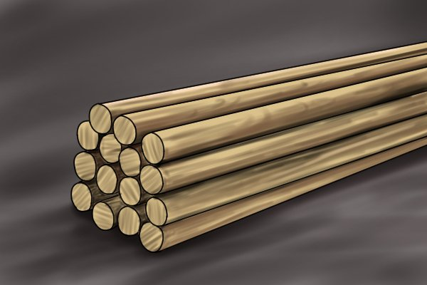 What are wooden dowels used for
