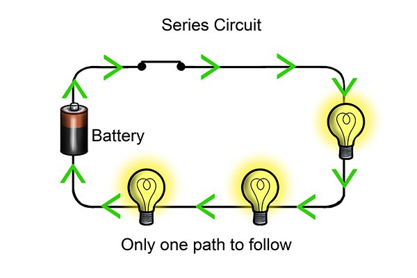 In A Series Circuit The Flow Of Charges Has Only One Path To Follow