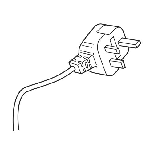 Trend WP-T9/006 2 core cable with plug 230V UK T9