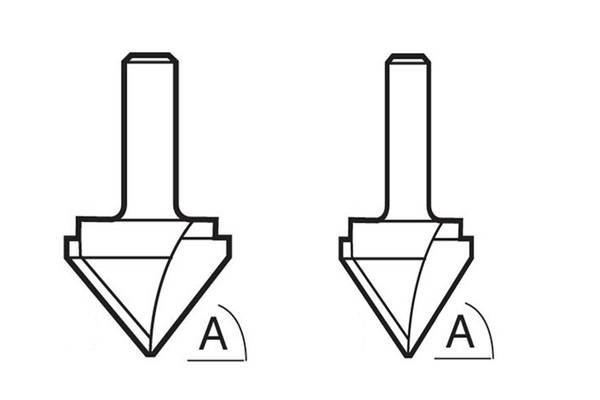 What different Trend V-groove router cutter sizes are