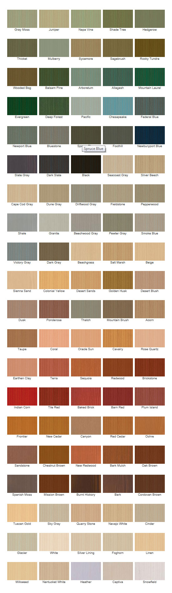Poly Stain Colors
