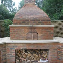 Outdoor Kitchen Oven Filter With Bespoke Brick Buckinghamshire Wood Front View