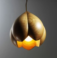 Wood - Furniture.biz | Photos | Flower Lamps by Laszlo Tompa