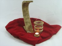 Wood-Things.de - Extravagantes Windlicht aus Holz & Glas