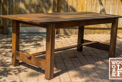 Making a Dining Table out of Reclaimed Bleachers