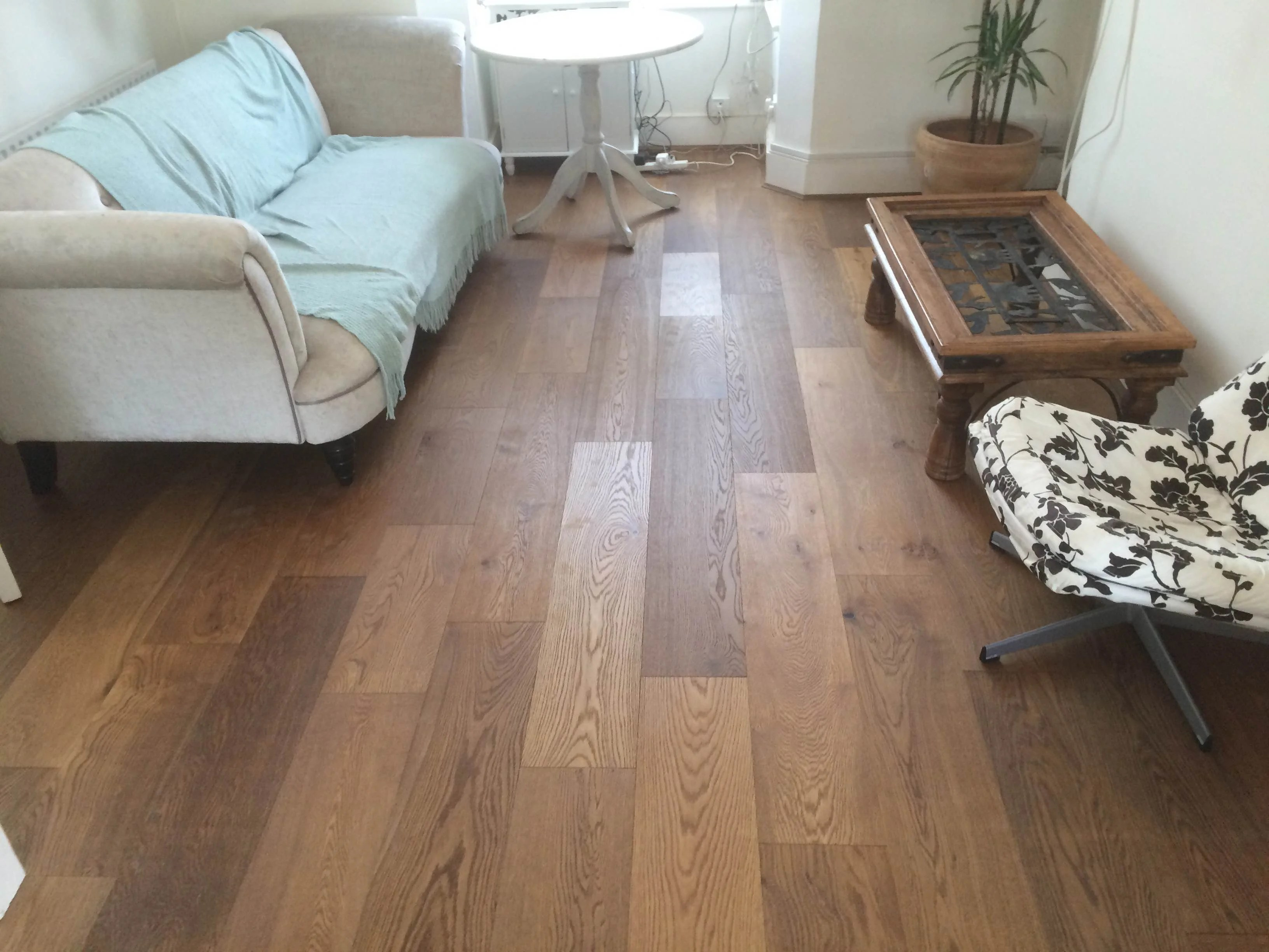 Extra rustic smoked engineered real wood floor click sytem