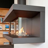 Pin Three Sided Fireplace Image Search Results on Pinterest