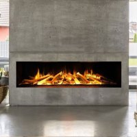 EVONIC Electric Fireplace Horizontal