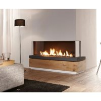 LINEAFIRE Fireplaces Corner 150 Right, Wood and Gas
