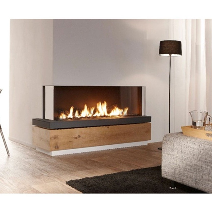 LINEAFIRE Fireplaces Corner 150 Left Wood and Gas  Fireplaces  Cheminee  Stones  Lebanon