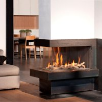 BELLFIRES Fireplaces View Bell Room Divider Medium, Wood ...