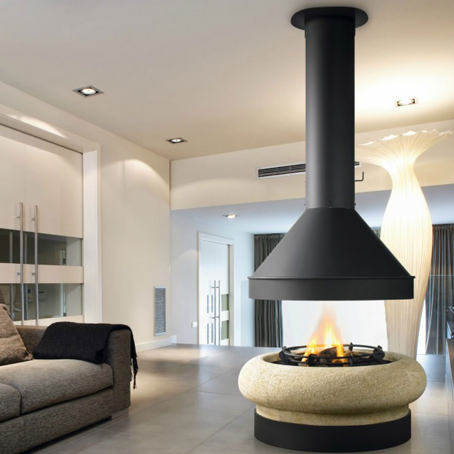 TRAFORART Fireplaces Zeus Gas Without Glass