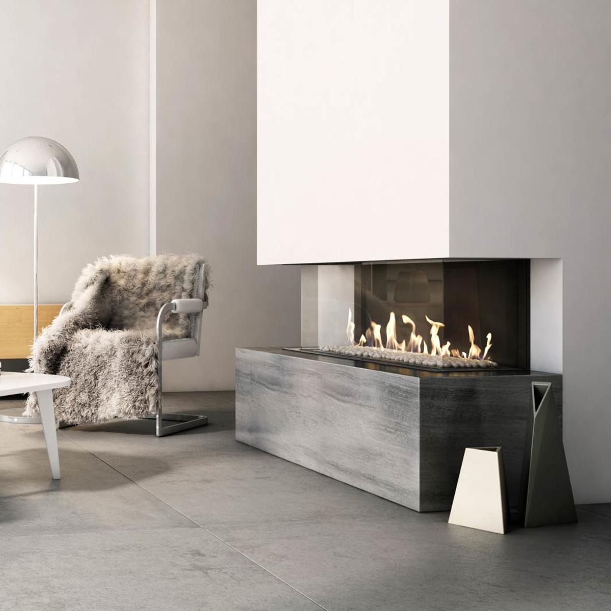 Kratki Poland Gas Fireplace 3 Sided 100