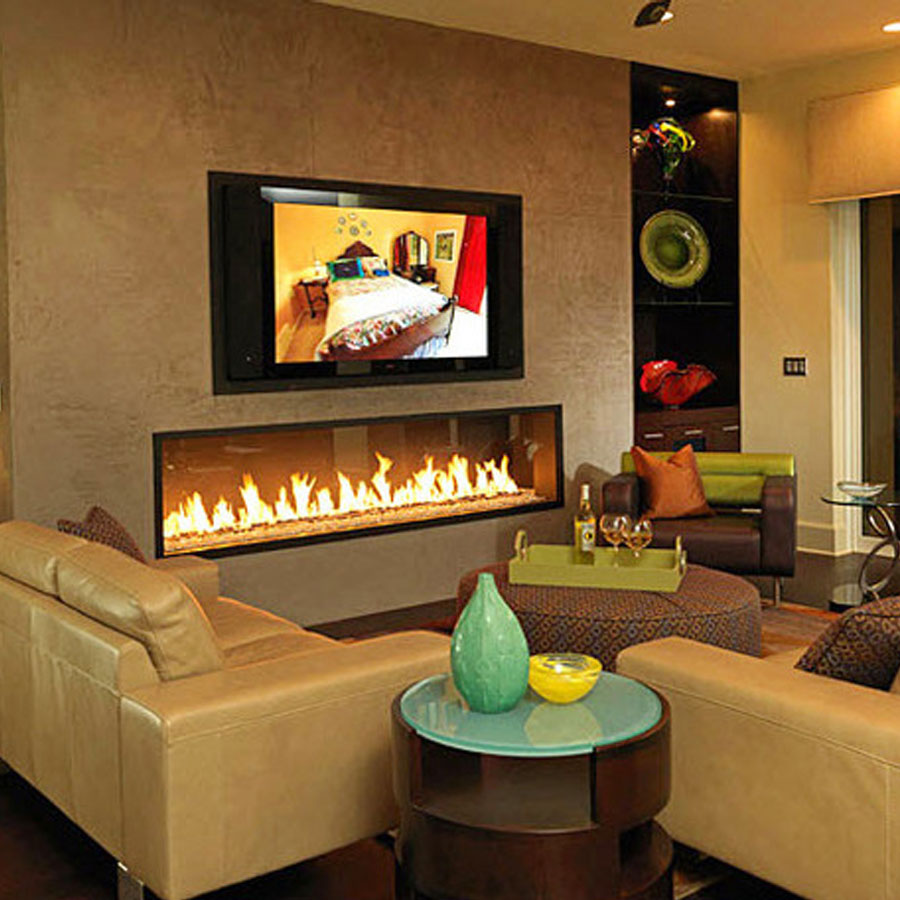 LINEAFIRE Fireplaces Horizontal 240 Wood and Gas  Fireplaces  Cheminee  Stones  Lebanon