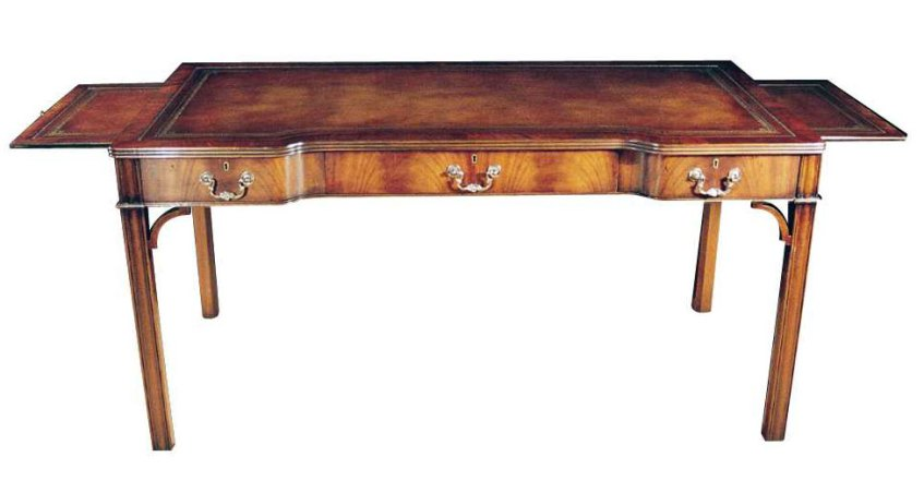 Chippendale Style Mahogany Writing Table.