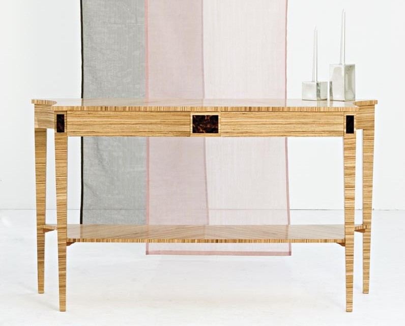 Zebrano Console Table