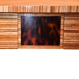 37024Z Zebrano Side Table - Inlay