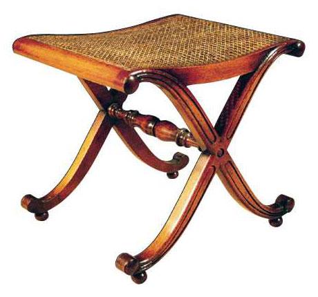 Mahogany Regency Style Bench.