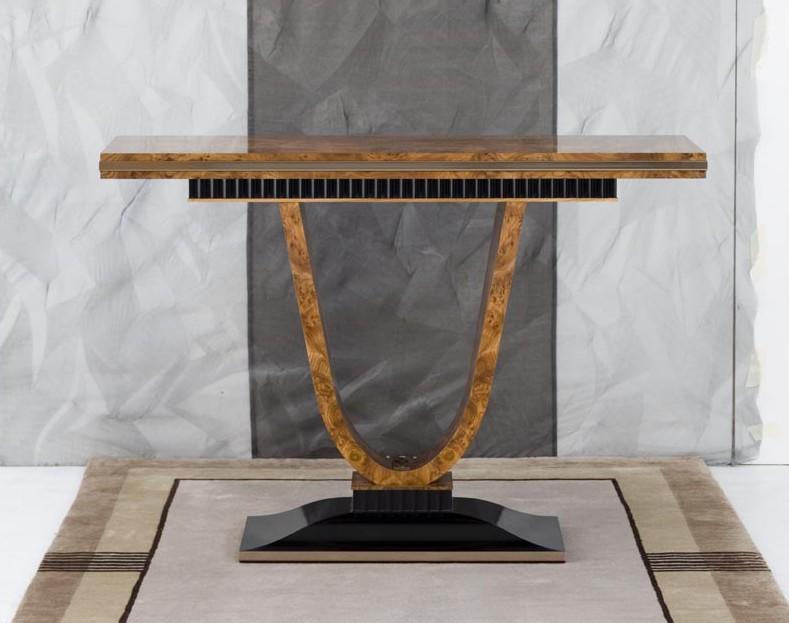 Burr Elm Console Table
