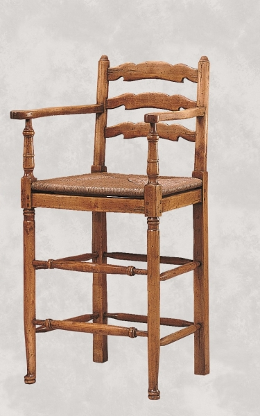 English Ladderback Stool