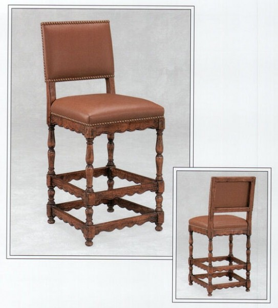 English Upholstered Barstool