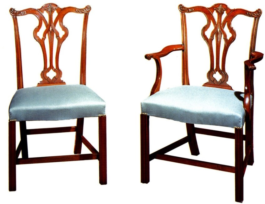 Mahogany Chippendale Style Dining