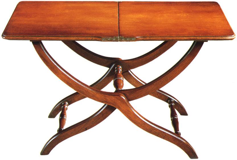 Mahogany Folding Coffee Table.