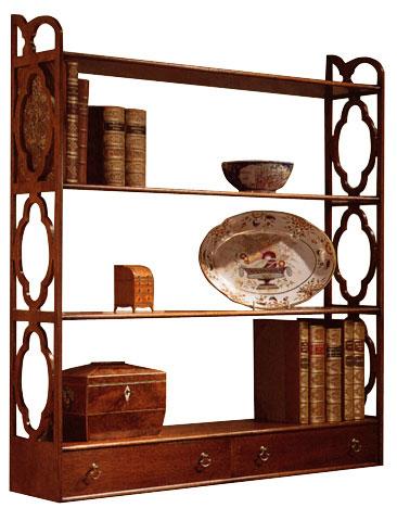 Mahogany Chippendale Style Wall Shelf.