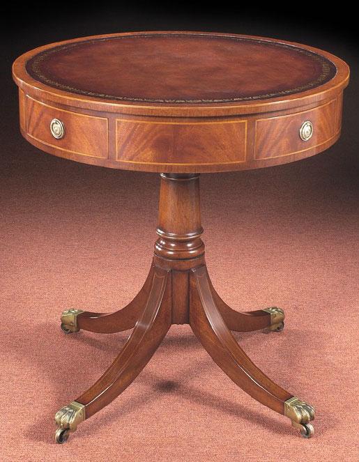 Mahogany Sheraton Style Drum Table.