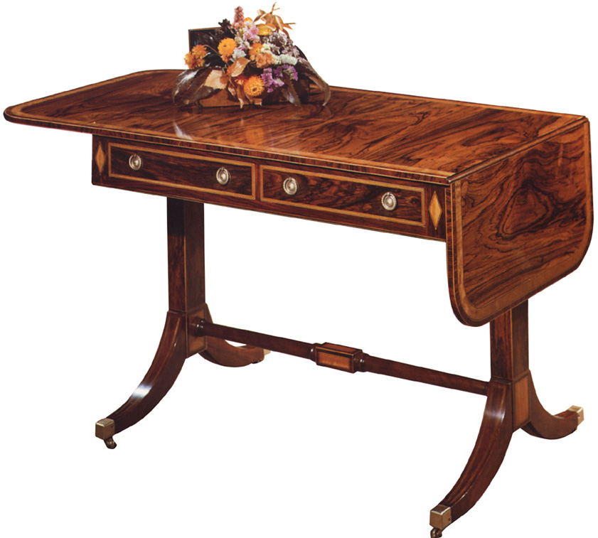 Regency Style Rosewood Sofa Table.