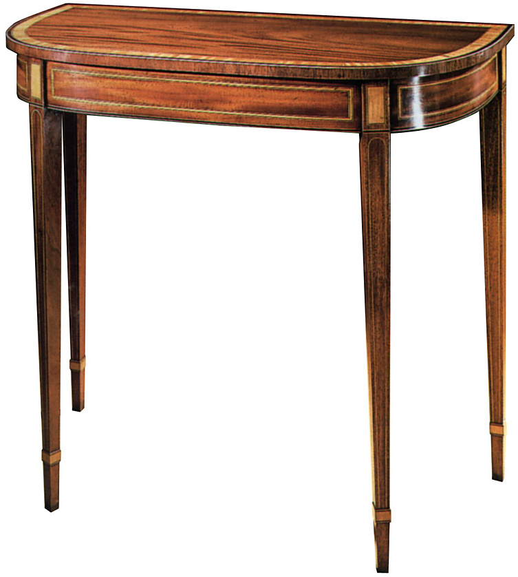 Mahogany Sheraton Style Console Table