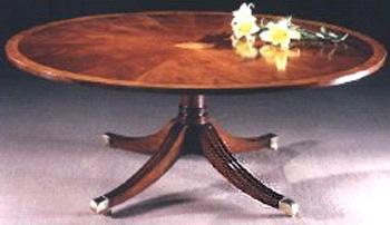 Mahogany Sheraton Style Oval Coffee Table.