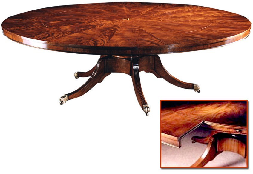 Regency Style Radial Mahogany Extending Circular Table