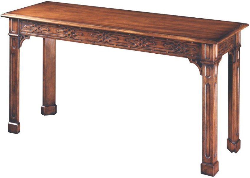 Mahogany Chippendale Style Side/Sofa Table