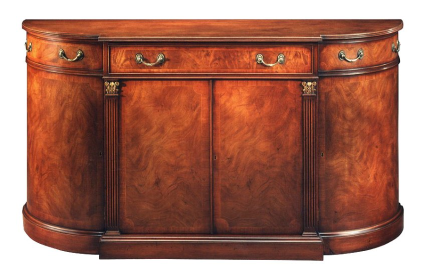 Mahogany George III Style Bow End Credenza.