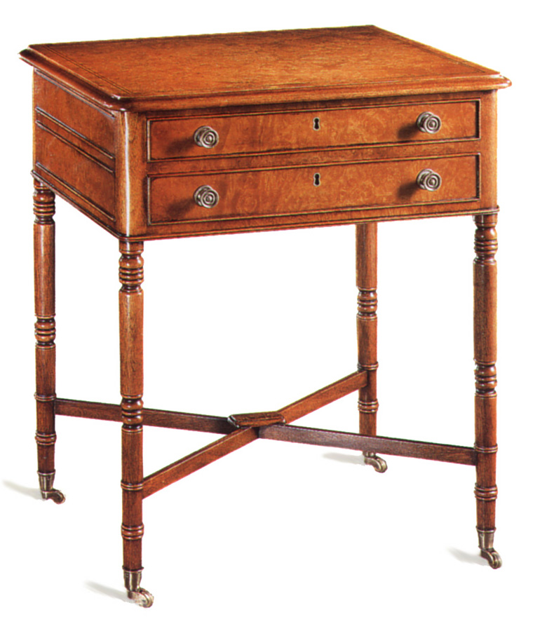 Burr Maple Table in the Regency Manner.