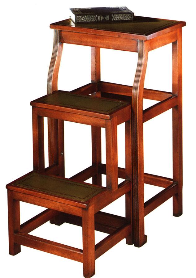 Mahogany Folding Library Steps.