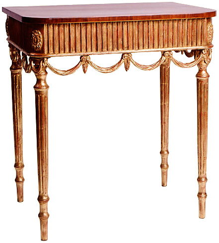 George III Style Mahogany and Gilt Console Table
