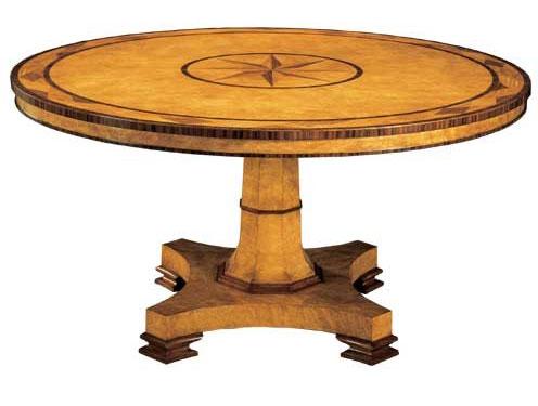 Regency Style Circular Burr Myrtle Table