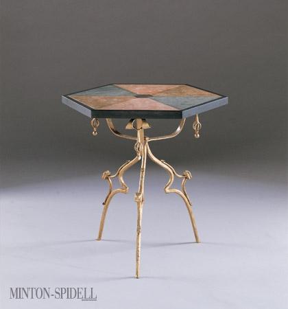 Navarro Side Table w/ Marble Top