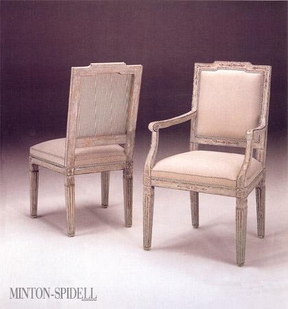Italian Louis XVI Dining Arm Chair